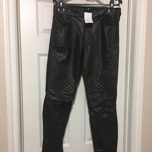 NWT H&M faux leather pants